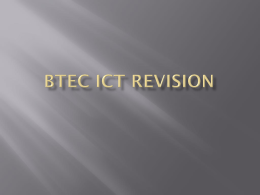 BTEC ICT Revision - Teach Me Computing