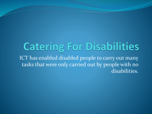 Catering For Disabilities