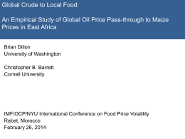An Empirical Study of Global Oil Price Pass