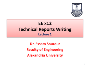 Lecture 1 - Faculty of Engineering