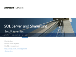 SQL Server and SharePoint Best Frienemies