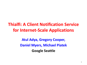 Thialfi: A Client Notification Service for Internet-Scale