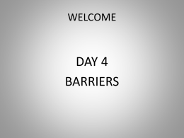 Day 4 Barriers