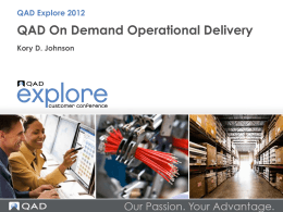 QAD On Demand Operational Delivery