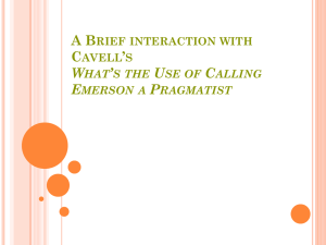 What`s the Use of Calling Emerson a Pragmatist?
