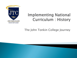 Implementing National Curriculum : History