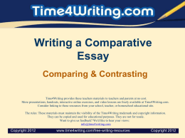 Essays_CompareContrast