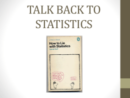 Talk back to statistics ppt