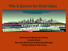 Short Sales Title and Escrow