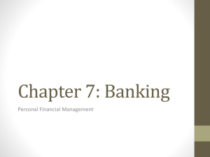 Chapter 7: Banking