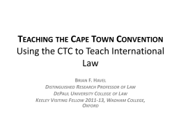 Using the CTC to Teach International Law