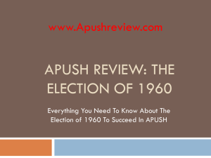 APUSH Review, The Election of 1960