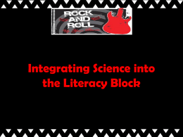Integrating Science into the Literacy Block Power Point