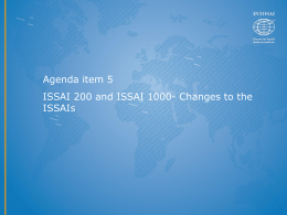 Changes To ISSAIs ppt