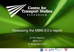 Assessing the Market-Based Measures Expert Group`s Report