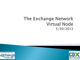 Cloud Computing - The Exchange Network