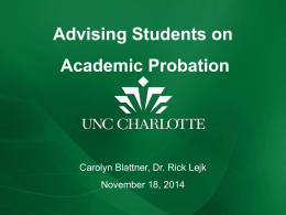 Undergraduate Students on Academic Probation