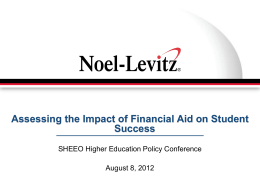Assessing the Impact of Financial Aid on Student Success