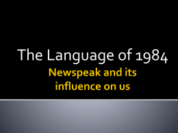 Newspeak and English Powerpoint