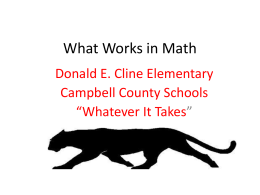 What Works in Math - Campbell County Schools