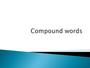 Compound Words PPT