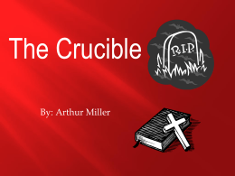 The Crucible Power Point - Reitz Memorial High School