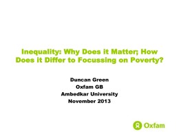 Inequality - Oxfam Blogs
