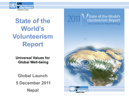 Report Presentation - United Nations Volunteers