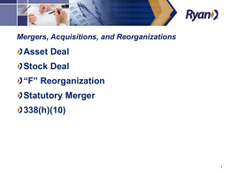 Mergers & Acquisitions - California Payroll Conference