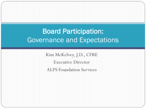 Setting rules for Board participation