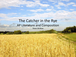 The Catcher in the Rye - Paintsville Independent Schools