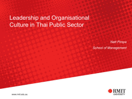 Leadership and Organisational Culture in Thai