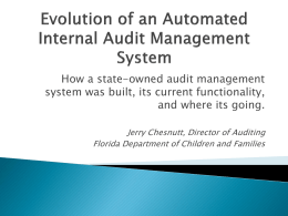 Evolution of an Automated Internal Audit Management System