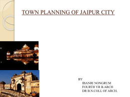 Case Study town planning ofjaipur