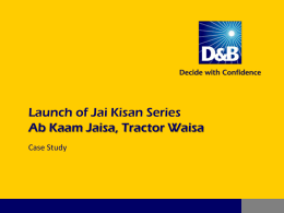 Ab Kaam Jaisa, Tractor Waisa - Launch of Jai Kisan Series