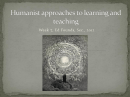 Humanist approaches to learning and teaching-2