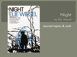 Night Journal Entries - English 8P Thoughts on NIGHT