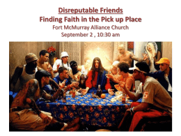 PowerPoint File  - Fort McMurray Alliance Church
