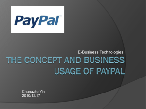 The concept and business usage of paypal PDF