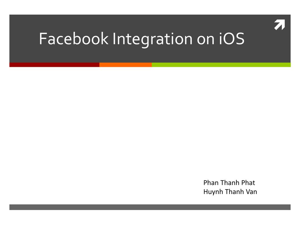 Facebook Integration on iOS