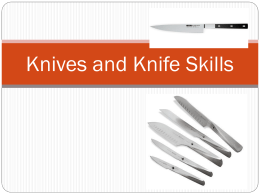 Knives and Knife Skills - Mrs. Williams` FACS Website