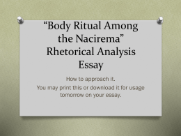 argumentative essay body ritual among the nacirema rhetorical