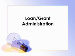 Session Loan Administration