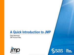 What is JMP? - Denver SAS Users Group