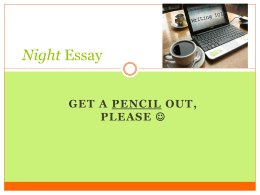 Night Essay 2 - mrssnydersclassroom