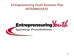 2014 Intermediate Program Business Plan Template