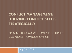 Conflict management skills & tools