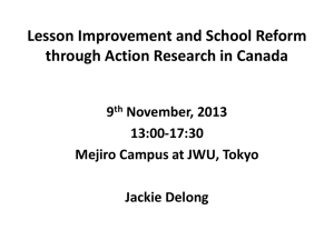 Powerpoint slides for Dr. Jacqueline Delong`s presentation at