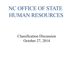 OSHR Classification Training Presentation