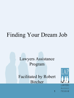 Finding Your Dream Job - Lawyers Assistance Program of British